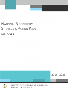 National Biodiversity Strategy and Action Plan of the Maldives 2016-2025